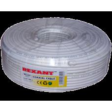 Кабель RG-6U, (64%), 75 Ом, 100м., белый REXANT