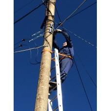 Монтаж оптического кабеля на высоте более 4м