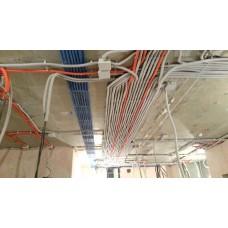 Монтаж слаботочного кабеля на высоте более 4м